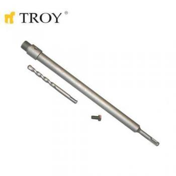 TROY 27458 SDS Plus Adaptör 400mm ve Merkezleme Matkap Ucu Seti